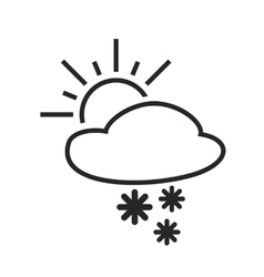 Heavy snow shower Sleet day Weather forecast vector image