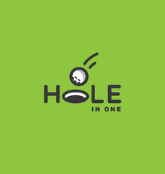 hole in one logo vector image