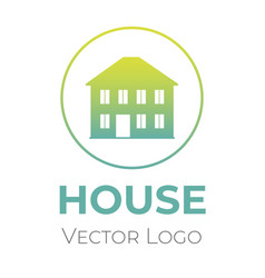 house logo design template home selling vector image