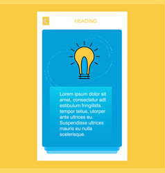 idea mobile vertical banner design design vector image