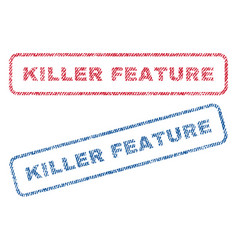 Killer feature textile stamps vector