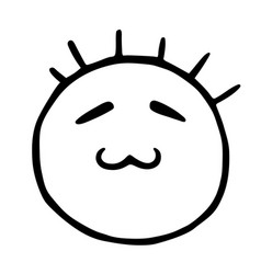 Line emoticons icon smiley with closed eyes and vector