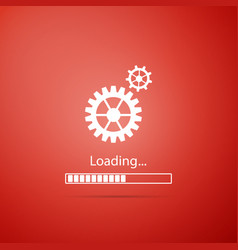 loading and gear icon isolated progress bar icon vector image
