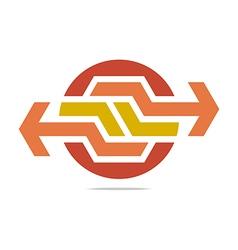 Logo Abstract Arrow Symbol Hexa Connecting Icon vector image