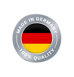 made in germany flag icon quality label vector image
