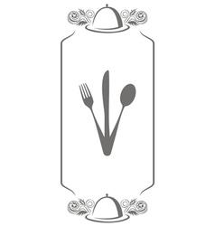 Menu knife fork spoon vector