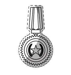 Military medal icon image vector