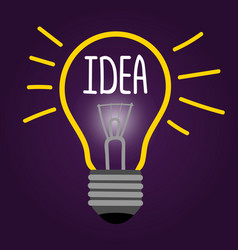 new creative idea concept with line light vector image