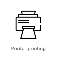 Outline printer printing squares icon isolated vector