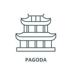 pagoda line icon linear concept outline vector image