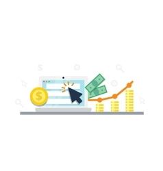 Pay per click internet marketing concept - flat vector