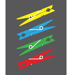 Peg clips vector