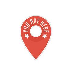 pin map navigation icon vector image