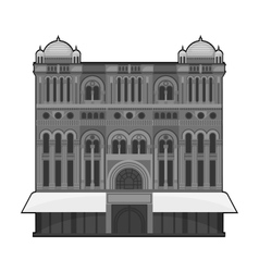 Queen Victoria Building icon in monochrome style vector image