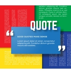 Rectangle Motivation Quote Template Color vector image