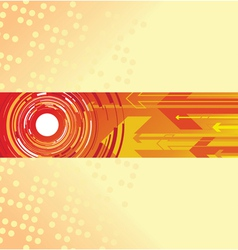 red circle and arrow background vector image