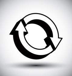 Reload refresh arrows loop simple single color vector image
