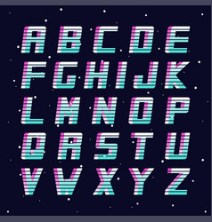 Retro font - fashion 80-90s futuristic vector