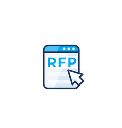 Rfp request for proposal form icon vector