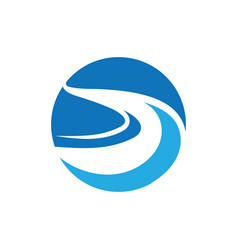 River icon design vector