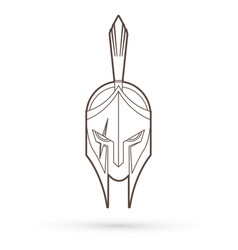 Roman or greek helmet spartan helmet vector