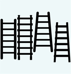 Set wooden staircase vector image