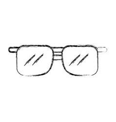 Sketch draw sunglasses cartoon vector