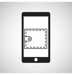 smartphone e-commerce wallet graphic vector image