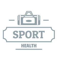 sport bags logo simple gray style vector image