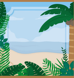 Summer frame template vector