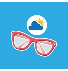 summer vacation design sunglasses fashion icon vector image