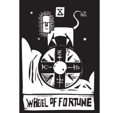 Tarot card wheel vector