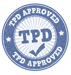 Tdp approved sign or stamp vector