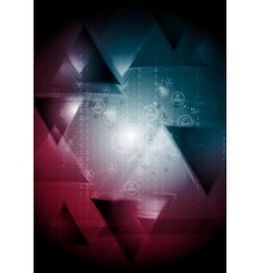 Tech background with triangles vector