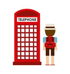Telephone cab vector