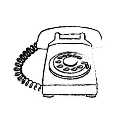 telephone device vintage service call sketch vector image