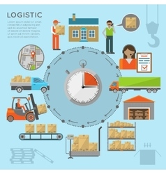 Warehouse transportation infographic vector