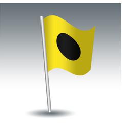 Waving maritime signal flag i india vector