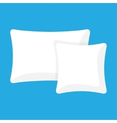 White pillow cushion vector