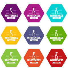 whiteness service icons set 9 vector image
