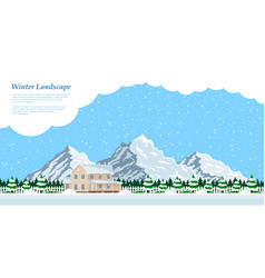 winter house landscape vector image