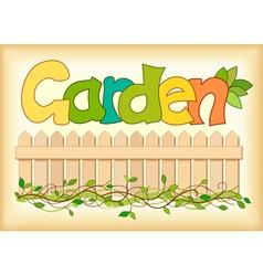Word garden vector