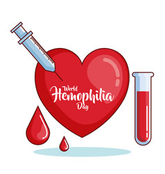 World hemophilia day icons vector