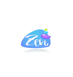 zen and meditation logo with lettering vector image