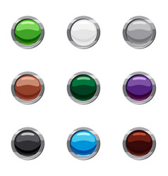 Buttons for clicks in internet icons set vector