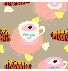 Cakes Seamless Pattern vector image vector image