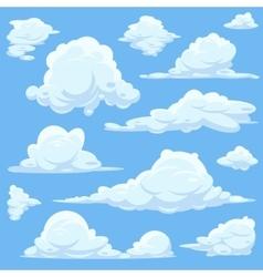 cartoon clouds in blue sky vector image