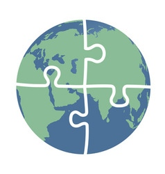 earth puzzle vector image