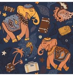 Elephant Seamless pattern vector image