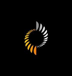 abstract circle science technology logo vector image vector image
